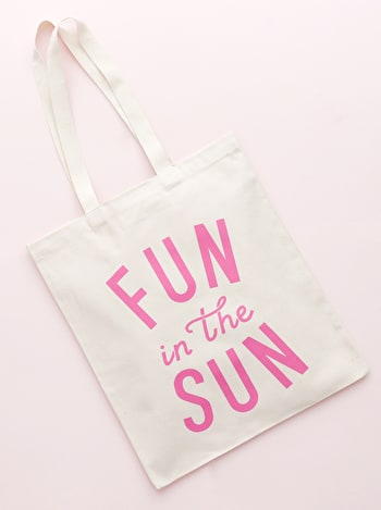 Fun In The Sun Cotton Bag | Beach Totes | Alphabet Bags