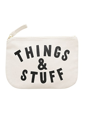 Things & Stuff - Little Canvas Pouch