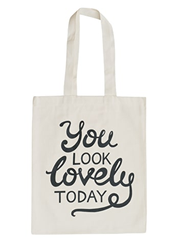 You Look Lovely - Cotton Tote Bag - Second