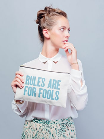 Photo of Rules Are For Fools - Large Canvas Pouch