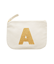 Initial Canvas Pouch - Little Glitter