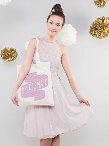 Photo of Bridesmaid Rose - Wedding Tote Bag