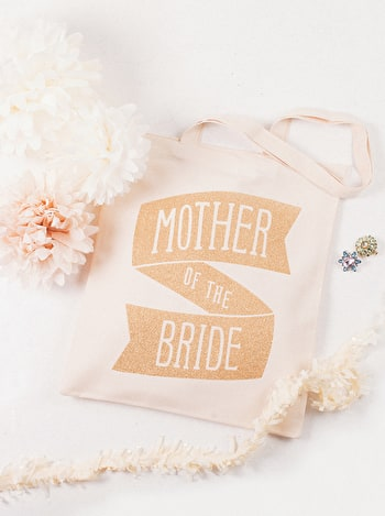 Photo of Mother of the Bride Gold Glitter - Wedding Tote Bag