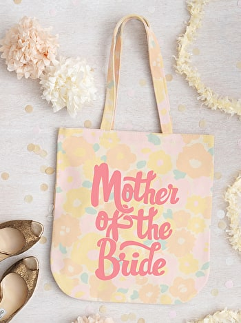 Photo of Mother of the Bride - Floral Canvas Bag