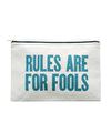 Rules Are For Fools - Large Canvas Pouch