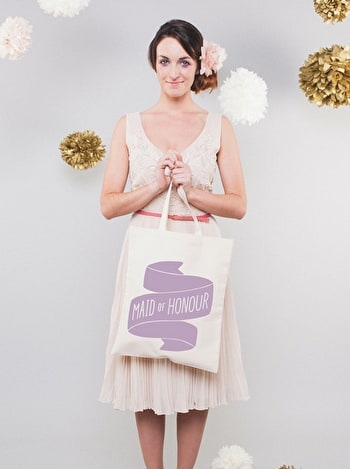 Photo of Maid of Honour Lavender - Wedding Tote Bag