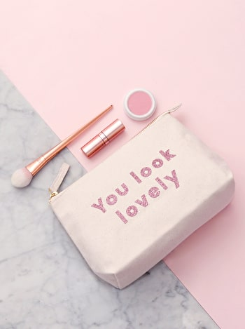You Look Lovely Makeup Bag | Initial Makeup Bag | Alphabet Bags