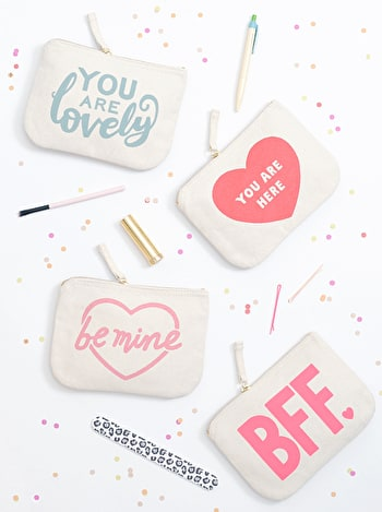 Photo of Be Mine - Little Canvas Pouch