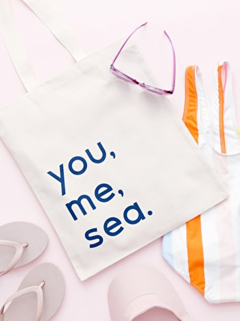 Photo of You, Me, Sea - Cotton Tote Bag