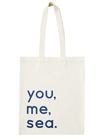 You, Me, Sea Cotton Bag | Beach Totes | Alphabet Bags
