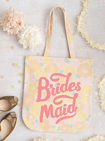 Photo of Bridesmaid - Floral Canvas Wedding Bag