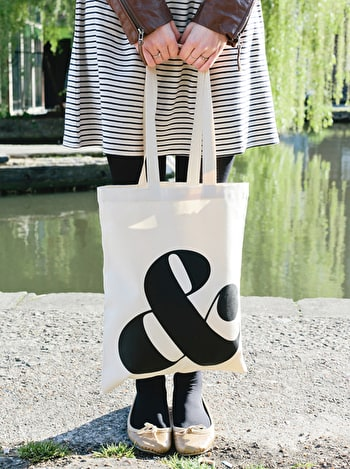 Ampersand Tote Bag | Canvas Tote Bags | Alphabet Bags