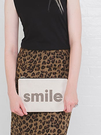 Smile | Canvas Pouch | Alphabet Bags