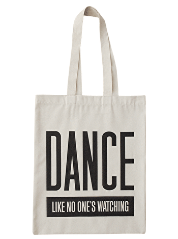 Dance Like No One's Watching Tote Bag | Dance Shoulder Bag | Alphabet Bags