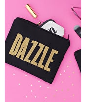 Dazzle - Black Canvas Pouch