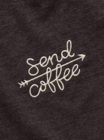 Photo of Send Coffee - Embroidered T-Shirt