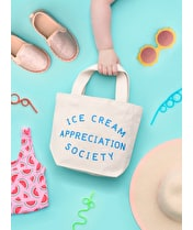 Ice Cream Appreciation Society - Little Canvas Bag