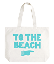 To The Beach - Big Canvas Tote Bag