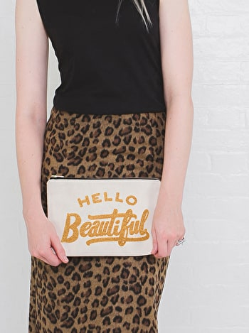 Photo of Hello Beautiful - Large Canvas Pouch