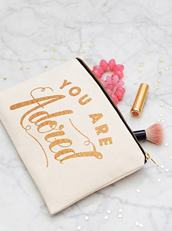 Photo of You are Adored - Large Canvas Pouch