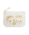 You are a Star - Little Canvas Pouch