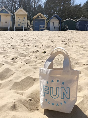 Have Fun Always Tote Bag | Kid's Beach Tote | Alphabet Bags