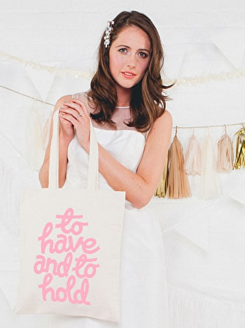 Photo of To Hold - Wedding Tote Bag