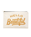 Hello Beautiful - Large Canvas Pouch