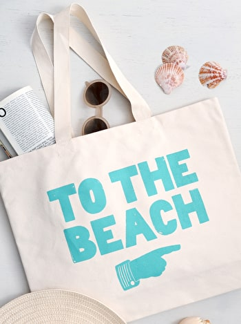 To The Beach Canvas Bag | Beach Bags | Alphabet Bags