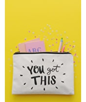 You Got This - Large Canvas Pouch
