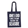 Seaside Navy - Cotton Tote Bag