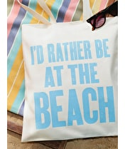 At the Beach - Cotton Tote Bag