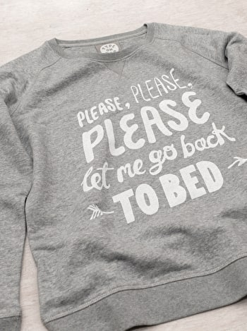 Photo of Let Me Go Back to Bed - Grey Sweatshirt