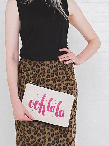 Ooh La La - Large Canvas Pouch