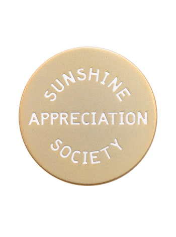 Sunshine Appreciation Society Enamel Pin | Hard Enamel Pins | Alphabet Bags