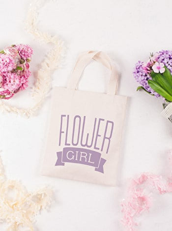 Flower Girl Tote Bag | Canvas Wedding Tote | Alphabet Bags