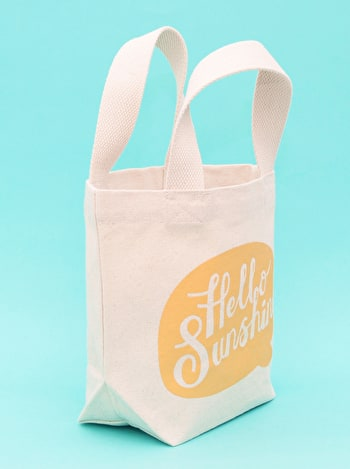 Hello Sunshine Mini Tote Bag | Kid's Beach Tote | Alphabet Bags