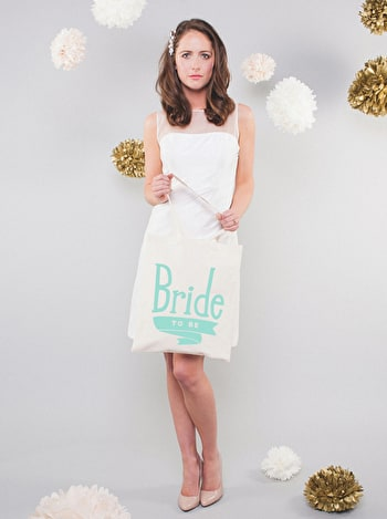 Photo of Bride To Be Mint - Wedding Tote Bag