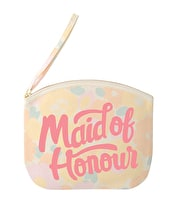 Maid of Honour - Floral Canvas Wedding Pouch
