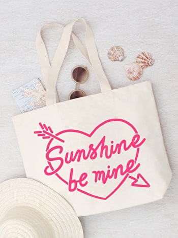 Photo of Sunshine Be Mine - Big Canvas Tote Bag