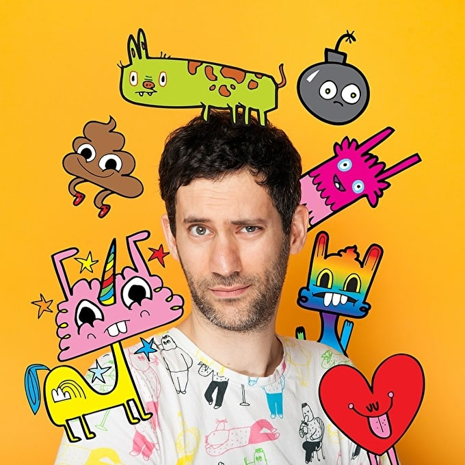 Interview with Artist & Designer Jon Burgerman: Doodles, Scrawls & Scribbles