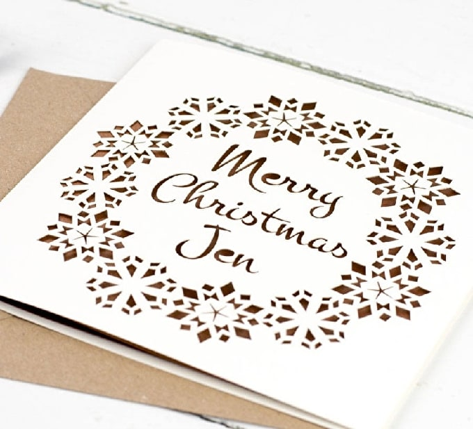 Christmas How To: Create Your Own Papercut Card