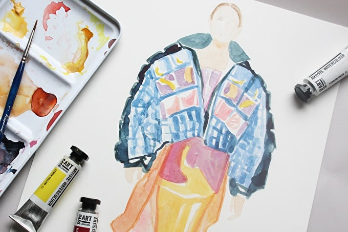 HOW TO: CREATE A WATERCOLOUR FASHION ILLUSTRATION WITH FRANCESCO LO IACONO