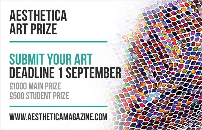 Your last chance to enter the Aesthetica Art Prize 2013