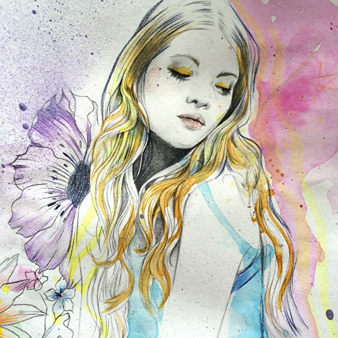 Liquitex Mixed Media: Fashion Tutorial By Illustrator Miss Led
