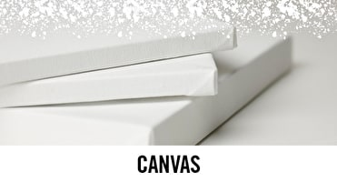 We stock canvas by leading brands such as Winsor & Newton, Loxely and Ampersand.