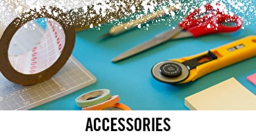 Accessories such as Tape, scissors and rulers are all available in our art shops and online UK wide.