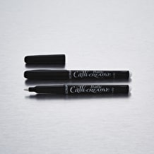 Manuscript Callicreative Italic Marker Pen White Pack of 2