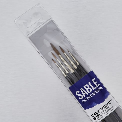 Sable Brushes Set of 5 | Artist Brushes | Cass Art