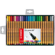 Stabilo Point 88 Wallet Set of 25 Assorted Colours